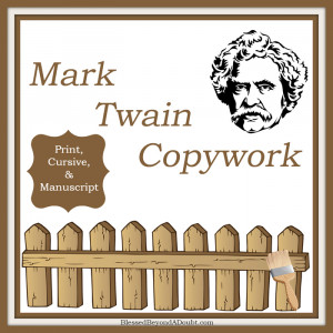 Mark Twain Quotes and Copywork