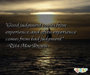 Good Judgment From
