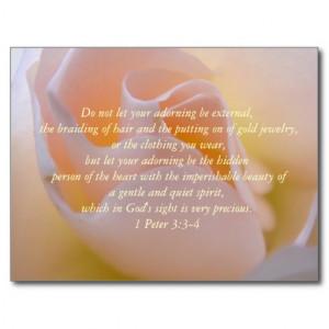 Inspirational Beauty Bible Verse Postcard