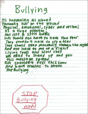 Here is a poem written by Emily, a 15 year-old High SchoolStudent: