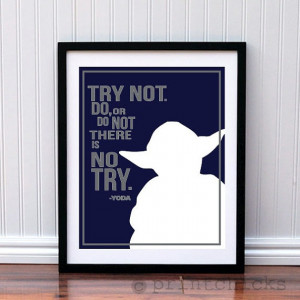 Yoda Poster Typography Print Personalized Star by PrintChicks, $35.00