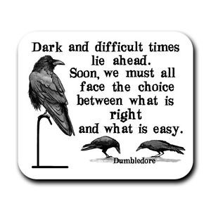 Dumbledore-Dark-Times-Quote-Harry-Potter-Fan-Art-Print-Mouse-Pad