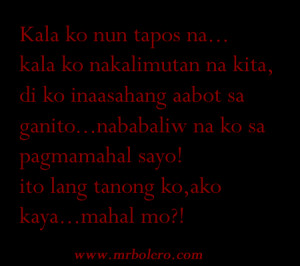 Tagalog Love Quotes 2014 Collections