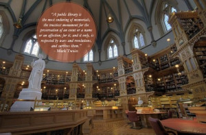 Great quotes about libraries on photos of beautiful libraries