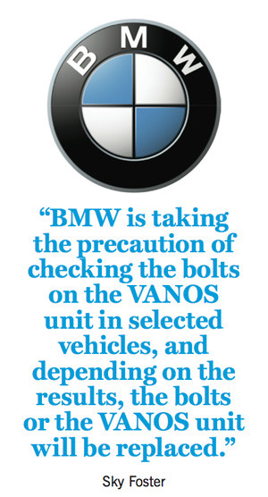 The VANOS unit is an automotive variable valve timing system produced ...