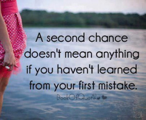 Second Chance Doesn't Mean Anything