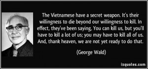 The Vietnamese have a secret weapon. It's their willingness to die ...