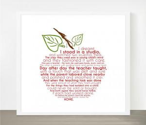 Teacher Appreciation Gift, Apple Word Art, 8x8, 8x10, Typography ...
