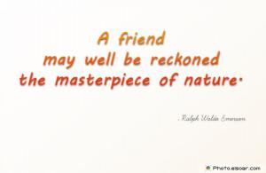 ralph emerson essay friendship