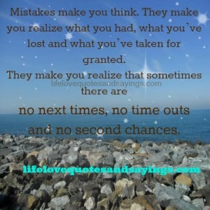 Mistakes Make You Think..