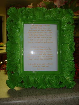 Frames With Quotes And Sayings: Green Eggs And Ham Baby Shower Frame ...