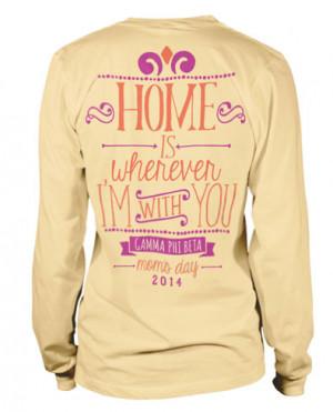 Gamma Phi Beta Moms Day T-shirt