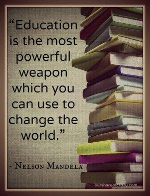 nelson mandela quote on education