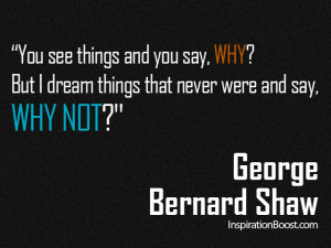 Inspirational Quote - Why Not?