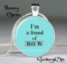 ... Recovery Serenity Slogans and Sayings Pendant Necklace, AA/NA Quote
