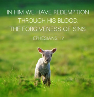 ... His blood, the forgiveness of sins.