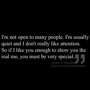 Really Like You Quotes I'm not open to many people.