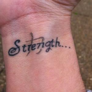 tattoo!! Give me strength!Inner Strength, Tattoo Ideas, Wrist Tattoo ...