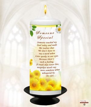 inspiration sayings memories 6inch white candle view item inspiration ...