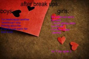 After A Break Up Boygirl