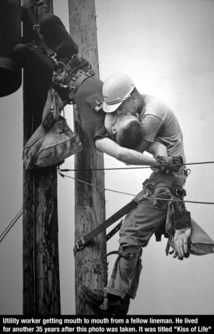 ... Mouth To Mouth To a Fellow Lineman, It Was Titled The Kiss Of Life