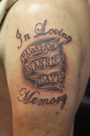 In Loving Memory Tattoo by drulebucket