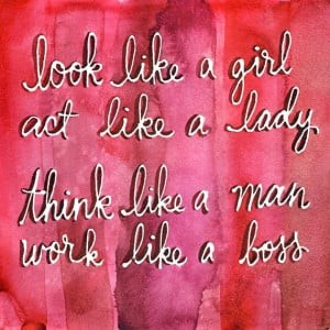 Art Print – Work Like a Boss – Watercolor Quote
