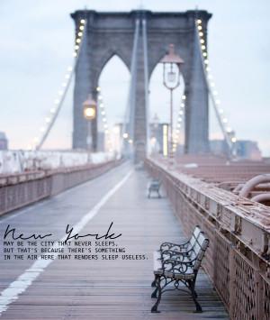 nyc, skyline, brooklyn bridge, quotes, sunset