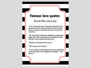 Famous Love Quotes, Movies, Black & White Stripes Bridal, Modern ...