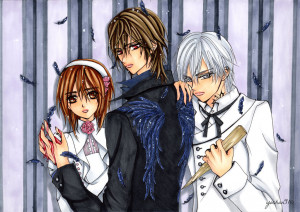 Vampire Knight love triangle by yochan91