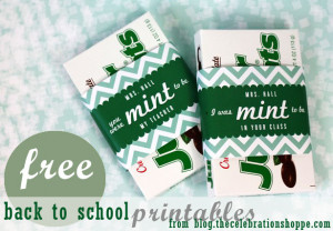 ... box of Junior Mints wrapped one of two cute personalized sayings