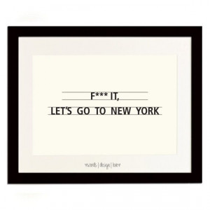 ... New York - Black & Cream Typography Poster - Inspirational Quotes