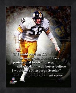 jack lambert pittsburgh steelers pro quotes framed 11x14 photo $ 24 99 ...