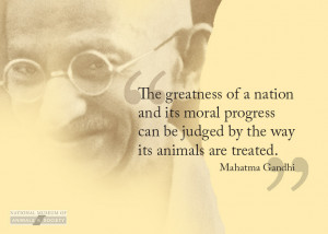 Gandhi Quotes Society Animals ~ quotes Archives - Animal Writes: PETA ...