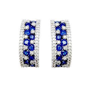 Ruby Earrings Gold Designer