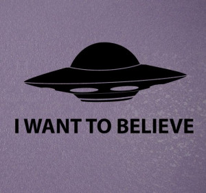 ... UFO decal I want to believe funny quote by NipomoImprints, $9.00