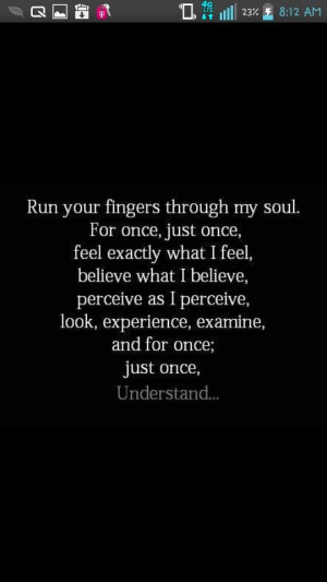 Just for once #understand