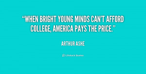 When bright young minds can't afford college, America pays the price ...