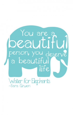 Water for Elephants Quote Digital Print by DaleighDesigns on Etsy, $20 ...