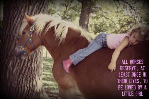 Little girls & horses