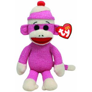Ty Beanie Babies Multi Colored Socks the Sock Monkey