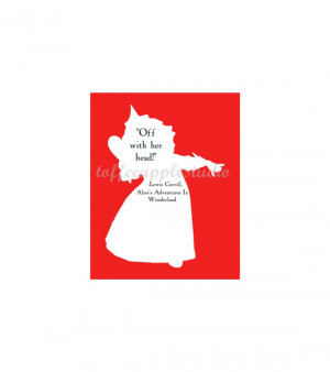Hearts Alice In Wonderland Silhouette Queen of hearts silhouette quote ...