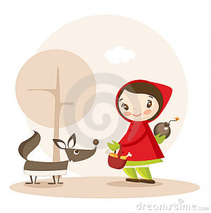Little Red Riding Hood Funny Cartoon Stock Image - Image: 13540151