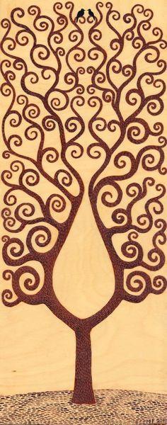 Wood Burning Tree Pattern...