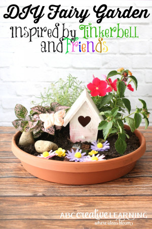 DIY Fairy Garden Inspired by Tinkerbell and Friends