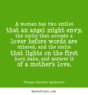 woman has two smiles that an angel might envy, the smile that ...