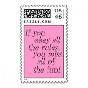 Pink funny quote postage stamps bachelorette party by Wise_Crack