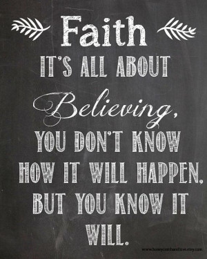 Instant Download-Faith & Belief Motivating Quote on Chalkboard ...