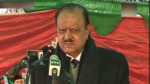 President Mamnoon visits Quaid-e-Azam's residency