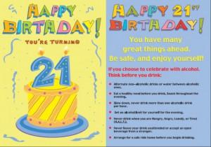 Happy Birthday You're Turning 21
